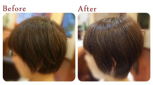 女性の増毛 エクステンション 施術例